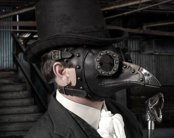 "Steampunk Plague Doctor Mask ""Dr. Beulenpest"""