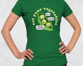 Ladies' Tee - Eat Your Vegetables: Legumes Shirt - Sizes S-M-L-XL-2XL - Womens Vegetable Vegan Vegetarian Paleo Tshirt Funny Grocery Peas