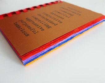 SCORPIO zodiac traits - comb-bound notebook