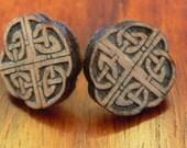Wooden Celtic Knot Earrings