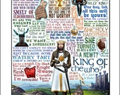 King of the Who -Monty Python & The Holy Grail tribute- signed print