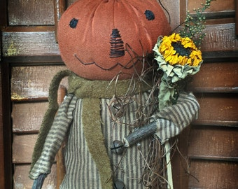 Instant Download  Mr Pumpkin Halloween Fall Doll Epattern