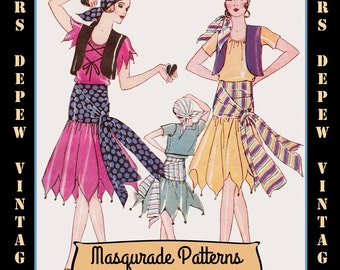 Vintage Pattern Catalog Booklet 1920's Masquerade Halloween Costumes From Pictorial Review-INSTANT DOWNLOAD-