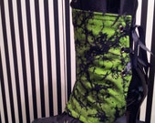 Pair Green Black  Print Lace Up Spats SALE