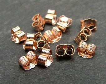 Rose Gold Filled Ear Scroll/Butterfly 5mm (CG6225)