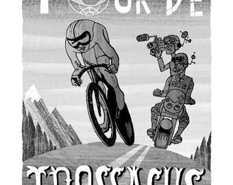 Imaginary Future Scotland Tour De Trossachs Giclee Print 30 x 42 cm signed edition number 2 of 100