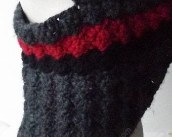 Asymmetrical Top, Crochet Vest, Dystopian Clothing
