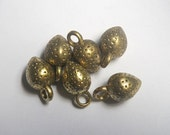 10 pieces 10mm x 17mm antique gold brass strawberry charm - C19