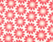Hand Printed Fabric - Bloom Hemp Organic Cotton in Tickled Pink