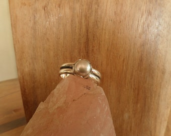 Pearl on a Double Sterling Band-Last One!