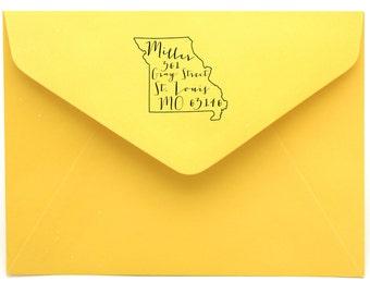 Missouri Personalized Return Address State Stamp