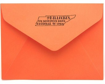 Tennessee Personalized Return Address State Stamp
