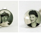 Sterling Silver Photo Cuff Links - A great gift for your Groom - A9