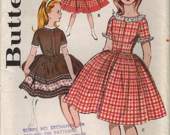 1960s Butterick 9556 UNCUT Vintage Sewing Pattern Girl's Dress Size 14