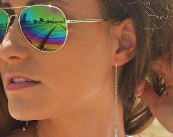 Long Tear Drop sterling silver earrings