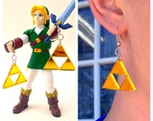 Gold Triforce Acrylic Small Lasercut Geek Earrings, Lightweight Zelda Cosplay Accessory, Link To The Past Comic Con GeekStar Jewelry
