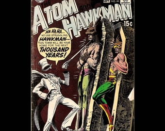 The Atom and Hawkman No. 44 - DC Comic Book c. September 1969