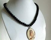 Owl medallion necklace