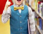 Boys Vest PDF Pattern - Size 6m to 12Y - Schoolboy Vest PDF Pattern by Sew Much Ado
