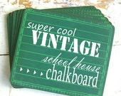 Vintage Green Chalkboard, Use it to Create an Awesome BACK To SCHOOL Keepsake Photo