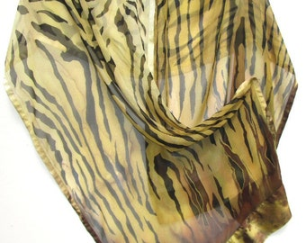 ANIMAL PRINT Silk Wrap Original Hand Painted Zebra Jungle Safari Tribal themed Silk Shawl or Scarf by Silk Siren at SilkSiren.com Lynn Meek
