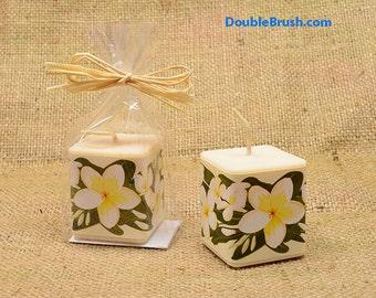 Plumeria Candle Frangipani Candle Plumeria Frangrance White Scented Candle Gift Plumeria Wedding Favor Tropical Plumeria Gift Plumeria Favor