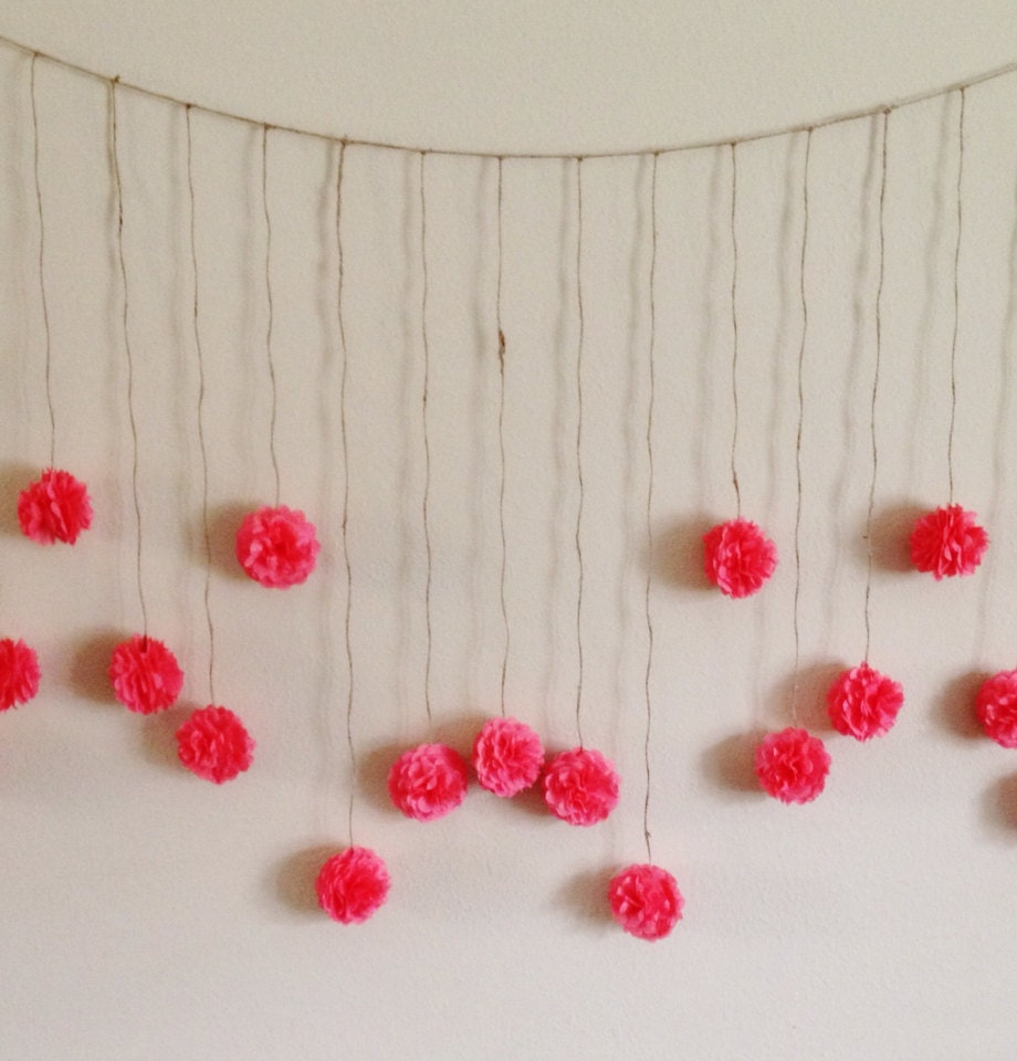 DIY Coral Tissue Paper Flower Wedding Garland Kit By Giddy4paisley