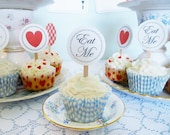 Alice in Wonderland cupcake toppers printable cupcake toppers DiY birthday party baby shower PDF files