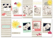Sunshine Gal 4x8 Accordion Photo Album for a Newborn, Child, or Family Client - 4 Files - Photoshop Templates for Photographers - AA0002