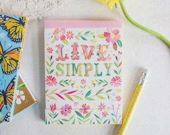 Live Simply Pocket Pad