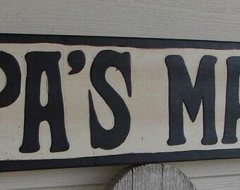 Papa's Man Cave sign