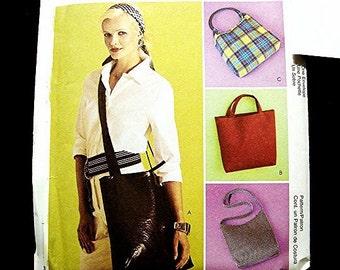 Womens Purse Pattern UNCUT Laides Handbag, Shoulder Bag,  Messenger Bag, Sewing Pattern