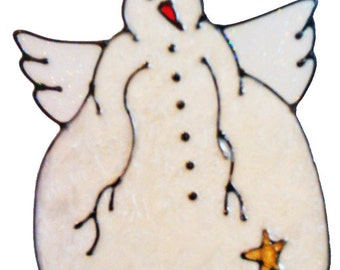 Snowman Angel Window Cling