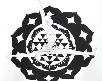 Hanomanasana - Monkey Pose - Yoga Asana Art Prints