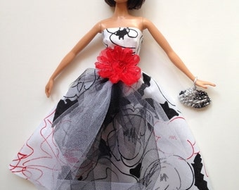 Handmade Barbie Clothes Formal Gown Dress