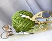 Dancing Stork Scissors - Elegant Vintage Style Stainless Steel Scissors in Silver or Gold