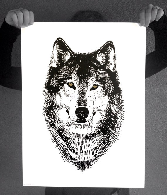 Wolf Wall Art wolf print wolf wall art print wolf poster wolf face wolf