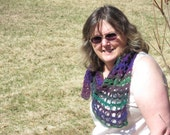 Dreaming My Life Away easy beginner crochet triangle shawl pattern - pdf file - directions only