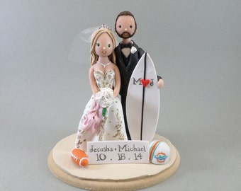 surfer wedding cake topper unavailable listing on etsy 20657
