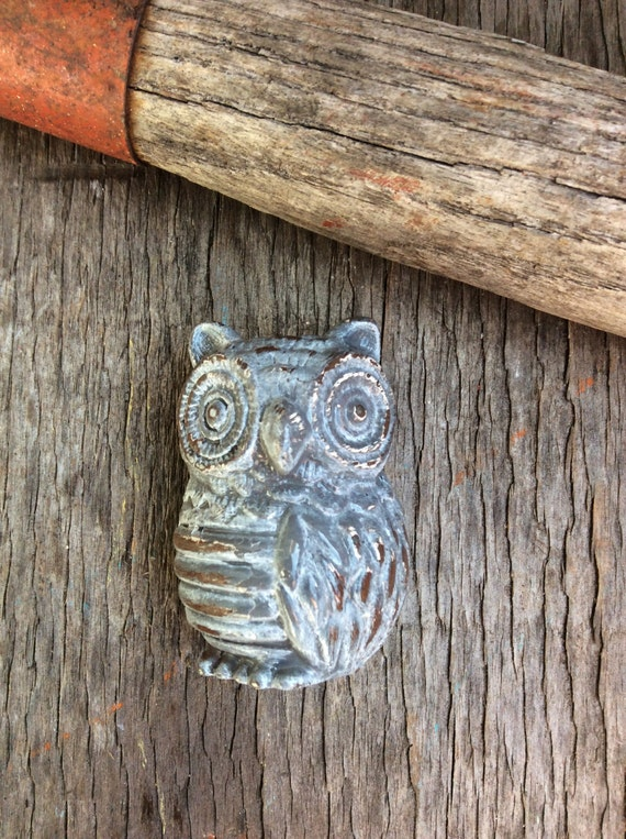 Items similar to Gray Owl Owl Drawer Pull Farmhouse Style Owls Handles C