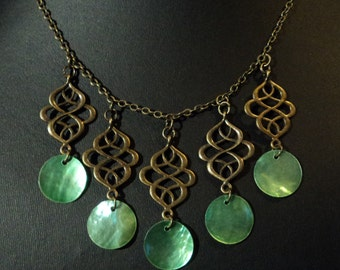 Dyuti - Brass Necklace - Caravan Collection