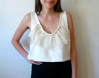 Amazing Lace & Cotton Crop Top