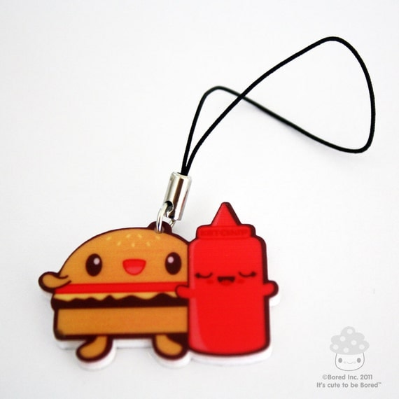 SALE Hamburger & Ketchup Charm
