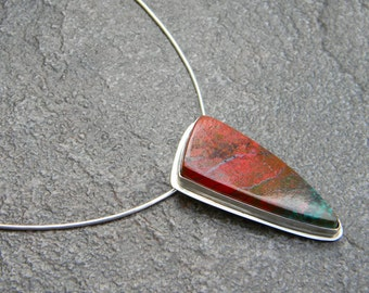 Sonoran Sunrise Triangular Stone Necklace in Sterling Silver