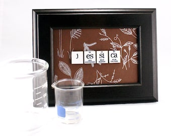 Chemistry Wall Art//Periodic Table of Elements//Science Teacher Gift//Nature & Woodland