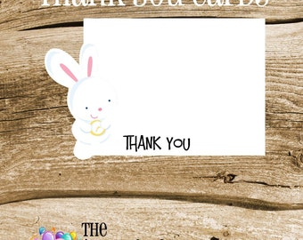 Alice in Wonderland Party - Set of 8 Mr. Rabbit Thank You Cards by The Birthday House