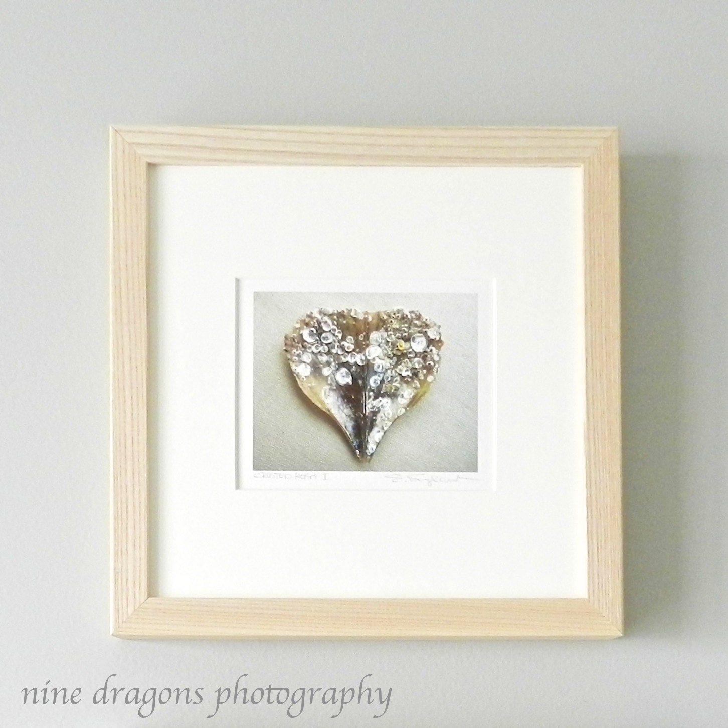 Heart Art Home Decor Framed Art Heart PrintRomantic