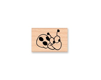 LADY BUG SET-Set of two stamps-right and left facing-wood mounted rubber stamp (19-22 and 39-02)