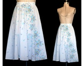 Vintage 70s Gypsy Love and Flowers from Above Skirt