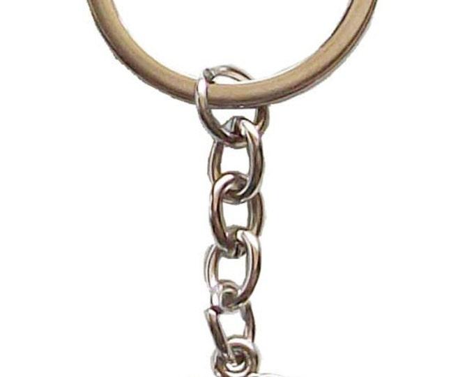 Purse Hanger Key Chain Bag Charm Embellishment by Ellen Medlock Studio - CharmVille Charming Logo House Cottage (#295CV)